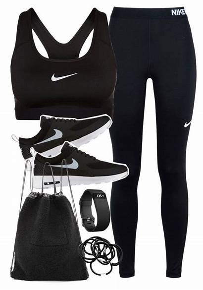 Outfits Nike Gym Outfit Polyvore Workout Clothes