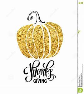 Happy Thanksgiving Day, Give Thanks, Autumn Gold Glitter