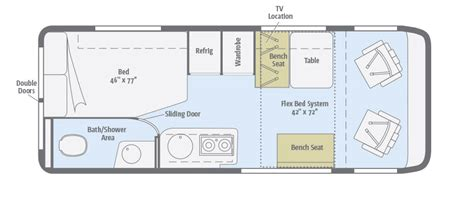 winnebago class c motorhomes floor plans travato floorplans winnebago rvs