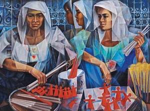 Candle Vendors - Vicente Manansala - WikiArt.org