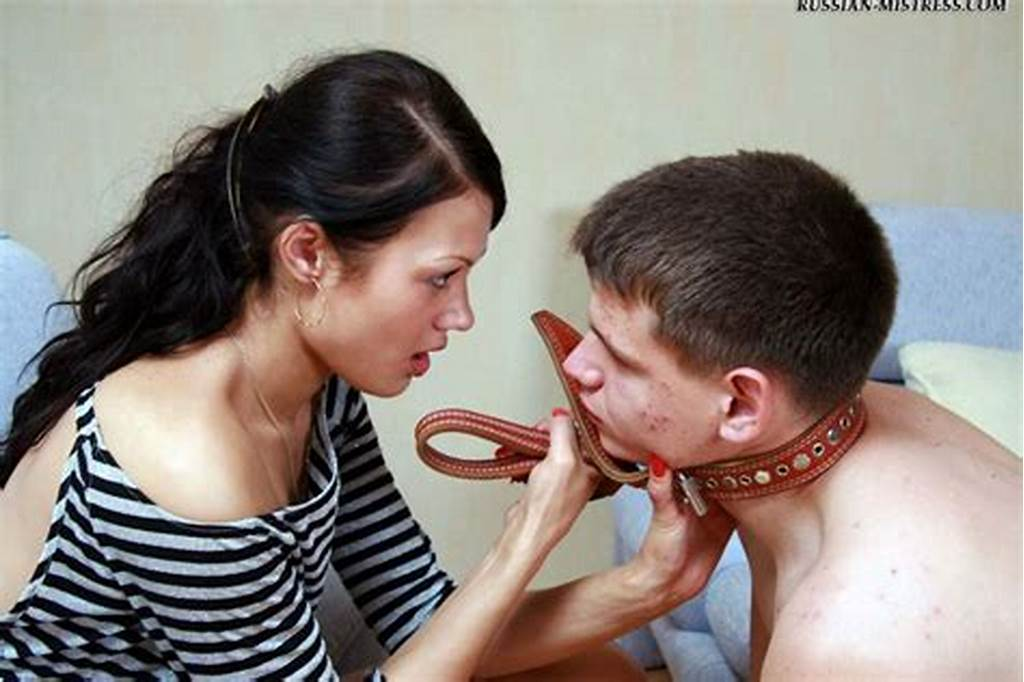 #Humble #Slave #Gets #Put #On #A #Leash #And #Forced #To #Please #His