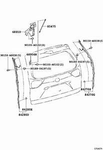 2011 Toyota Sienna Hatch Lift Support  Left