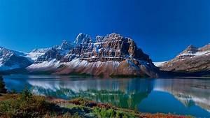 wallpaper, national, park, alberta, canada, fjord, alps, rocks, mountains, lake, reflection, landscape