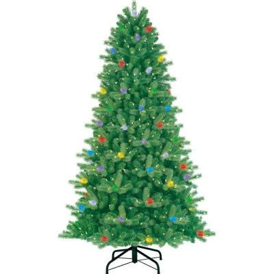 home depot christmas tree pricereal ge itwinkle 7 5 ft just cut fraser artificial