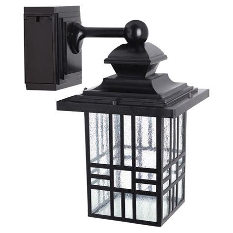 outdoor light with gfci outlet shop portfolio gfci 11 81