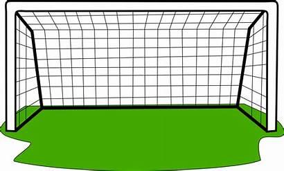 Goal Football Clipart Score Drawing Grass Transparent