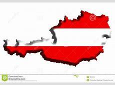 De Kaart van Oostenrijk stock foto Afbeelding bestaande