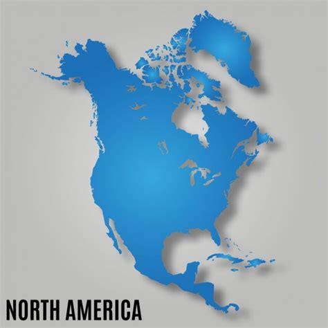 Mapa kontinentu Severní Amerika — Stock Vektor © olinchuk ...