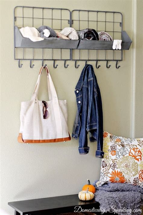 mini mudroom homegoods giveaway domestically speaking