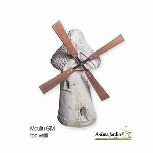 moulin de jardin avec roue blanc vieilli 80 cm en With lovely moulin en pierre pour jardin 5 decoration pour petit jardin
