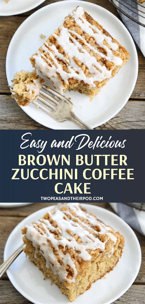 This coffee cake is worth a trip to the grocery store. Zucchini Coffee Cake {The Best!} - Two Peas & Their Pod