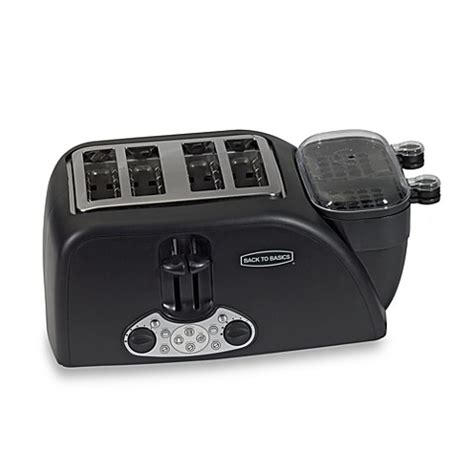 Back To Basics Egg And Muffin Toaster - back to basics 174 4 slot egg and muffin toaster bed bath