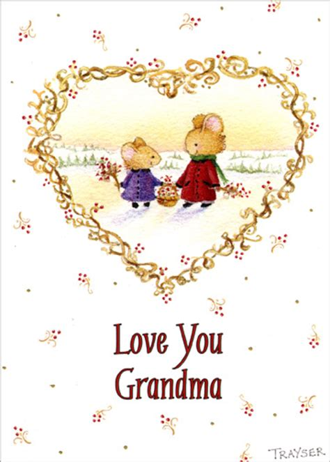 holiday stationery love your grandma 1 card 1 envelope christmas card from