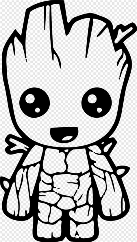 baby groot cute avengers coloring pages hd png