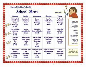 child care menu templates free professional sample templates With child care menu templates free