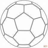 Coloring Soccer Ball Pages Supercoloring Printable Drawing Paper sketch template