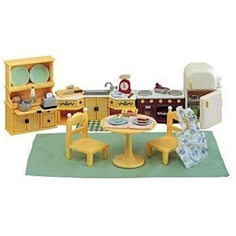calico critters kitchen kozy kitchen set calico critters furniture educational