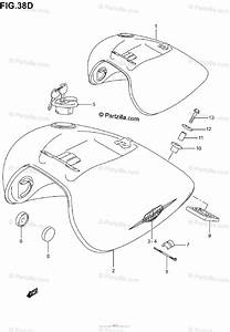 Suzuki Motorcycle 2001 Oem Parts Diagram For Fuel Tank  Model K5
