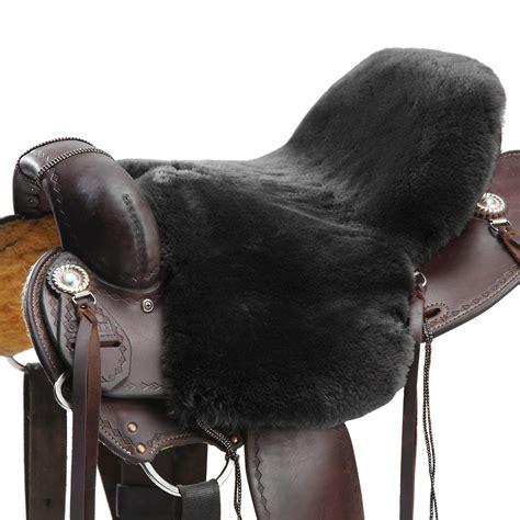 saddle sheepskin cushion western endurance jms deluxe ridingwarehouse riding