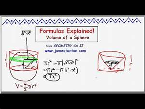 Formula For The Volume Of A Sphere  Video Iii  Tanton