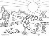 Coloriage Paysage Ete Nature Dessin Imprimer Paisaje Vacances Coloring Countryside Colorear Paisajes Drawings Dibujo Gratuit Dibujos Colouring Landscape Outline Pintar sketch template