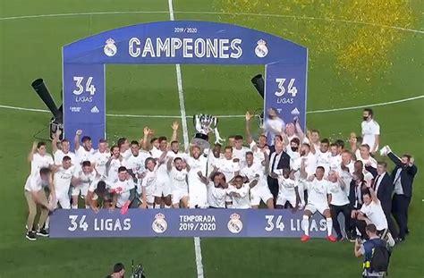 Real Madrid es Campeón de la Liga Española – Lider Web