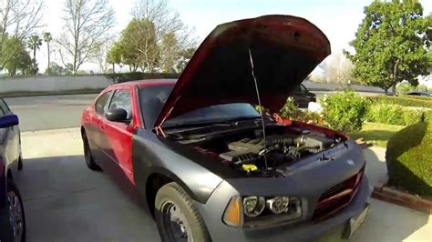 front  body repair   dodge charger youtube