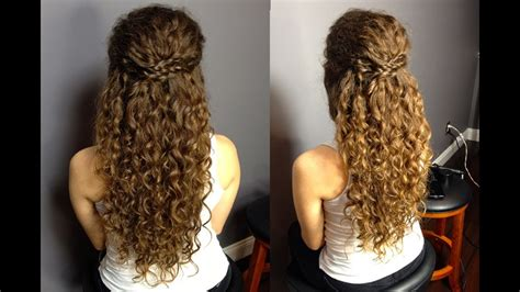 half up half down updo for naturally curly hair easy