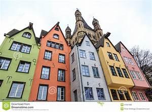 Häuser In Deutschland : alte bunte h user in der stadt k ln in deutschland stockfoto bild von gro haus 47997980 ~ Eleganceandgraceweddings.com Haus und Dekorationen
