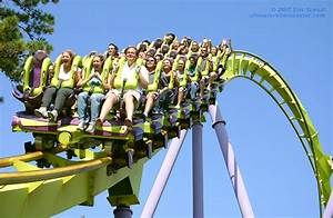 Floorless Roller Coaster Trains | Bizarro, Six Flags Great ...