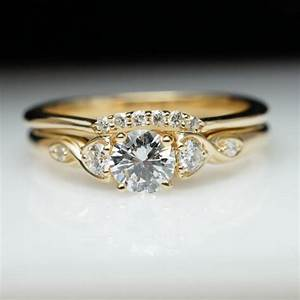 vintage antique style diamond engagement ring wedding With vintage yellow gold wedding rings