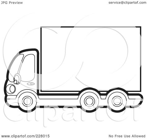 royalty  rf clipart illustration   coloring page outline   big rig   blank