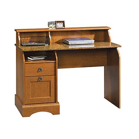 sauder graham hill wood desk cherry by office depot