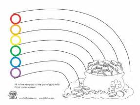 photos free rainbow with a pot of gold template or coloring page - Coloring Pages Rainbow Pot Gold