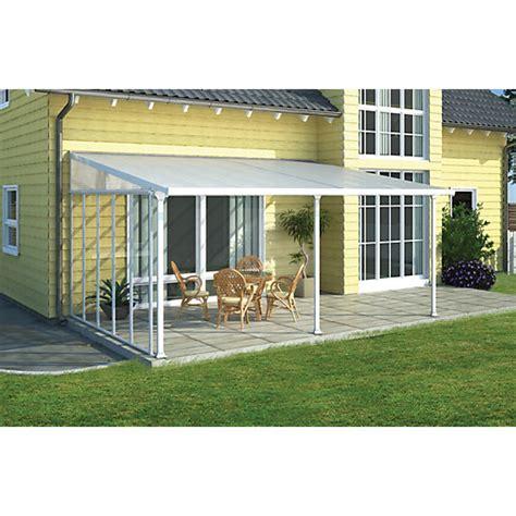 palram feria patio cover white clear 3x4 25m wickes co uk