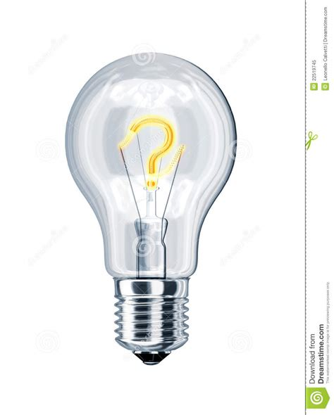 inside of a light bulb light bulb with question mark inside royalty free stock