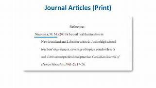 APA Style Reference List How To Reference Journal Articles YouTube APA Citation Quick Links Reference Page Apa Format Nc Apa Format Reference APA Documentation References Citations TOP