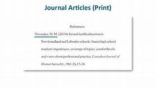 Apa Reference Page Example Journal Article APA Style Reference List How To Reference Journal