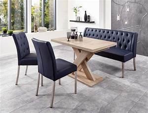 Stuhl Sonoma Eiche : tischgruppe milan eiche sonoma dunkelblau 2x stuhl s ulentisch 120 cm wohnbereiche esszimmer ~ Eleganceandgraceweddings.com Haus und Dekorationen
