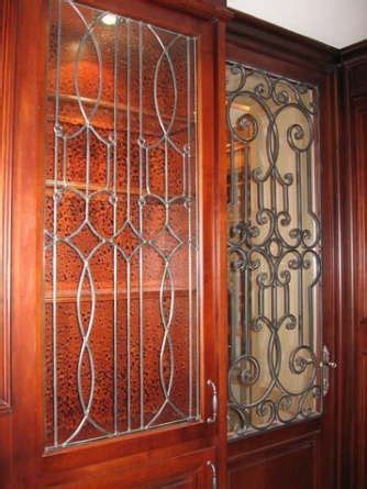 leaded glass kitchen cabinets handmade leaded glass inserts for cabinets by glassworks 6873