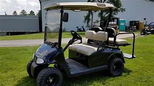 2012 Ez Go Rxv Gas Golf Cart For Sale With Custom Rims Tires Flip Seat Winshield  U0026 Mirrors