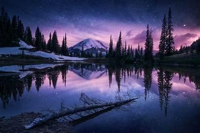 Night Nature Lake Reflection Wallpapers R1 4k