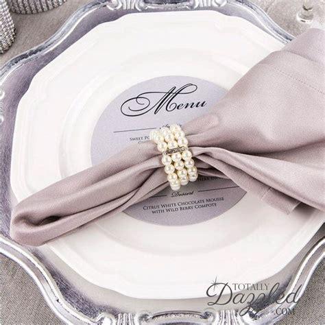 best 25 wedding napkin rings ideas on pinterest napkin