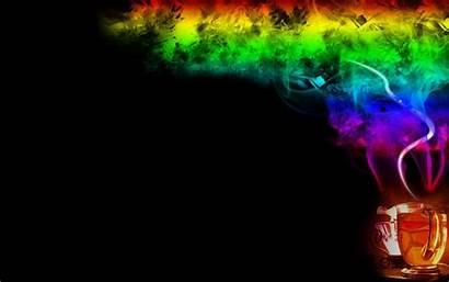 Tea Colorful Rainbows Smoke Wallpoper