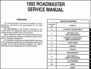 1993 Buick Roadmaster Repair Shop Manual Original