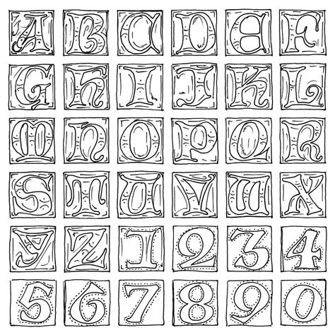Illuminated Alphabet Templates by Free Coloring Pages Of Illuminated Letters