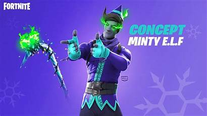 Fortnite Elf Wallpapers Pickaxe Minty Wallpapercave