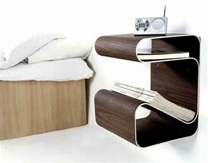 Table De Chevet Design : le chevet suspendu et le chevet flottant designs int ressants ~ Teatrodelosmanantiales.com Idées de Décoration