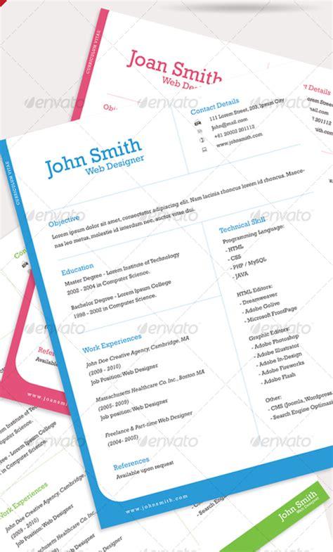 28 creative cheap resume templates