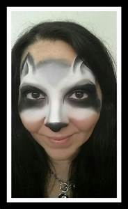 Raccoon Face Painting | Maquillage et costumes | Pinterest